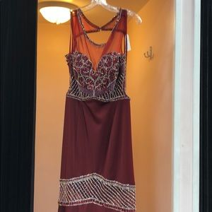 NWT BURGUNDY DRESS